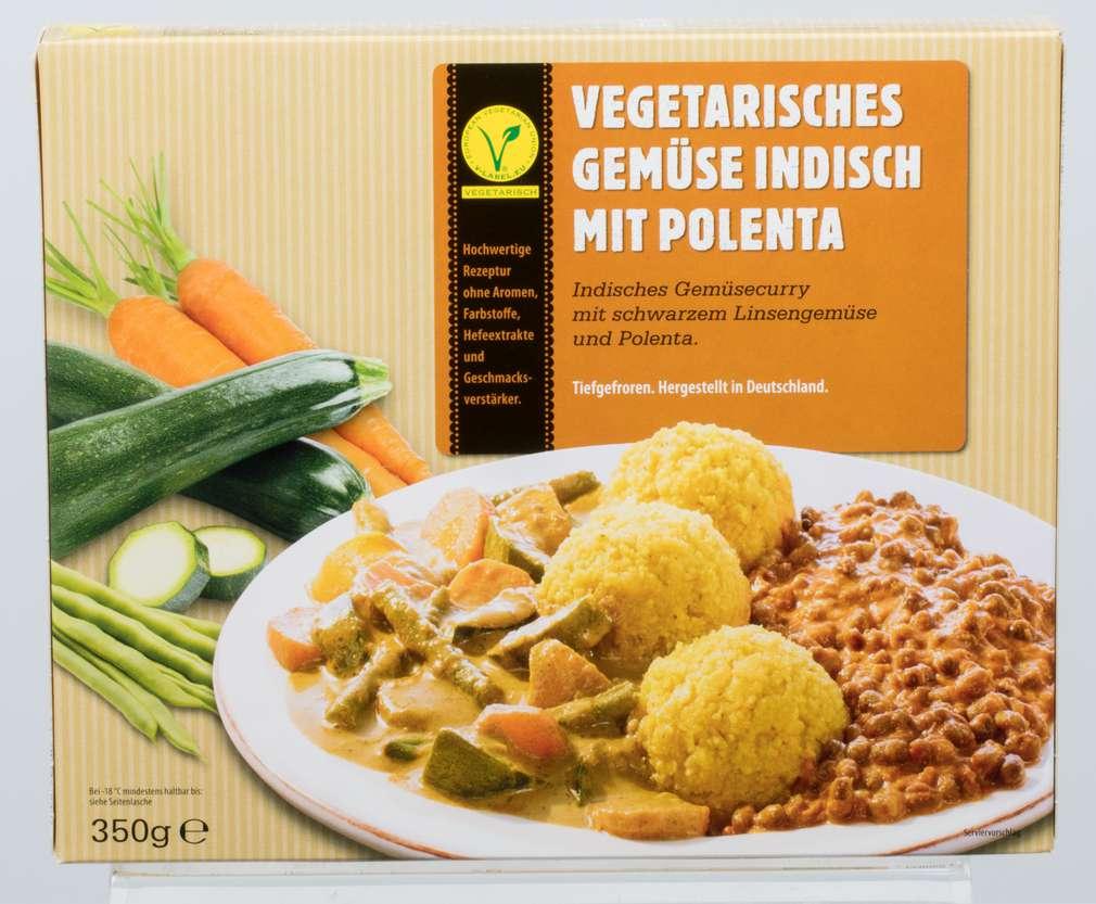 Abbildung des Sortimentsartikels Frankenberg Vegetarisches Gemüse Indisch, mit Polenta 350g
