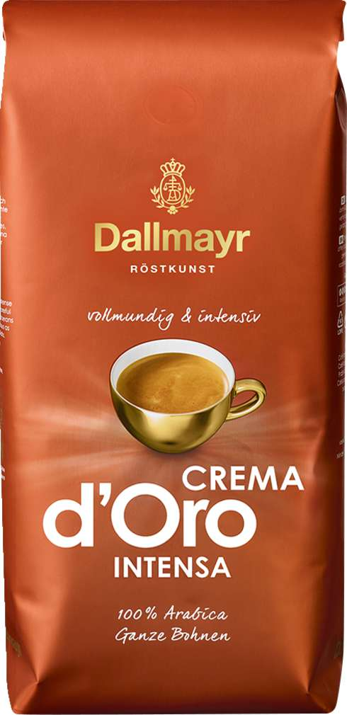 Abbildung des Sortimentsartikels Dallmayr Crema d'Oro Intensa ganze Bohne 1000g