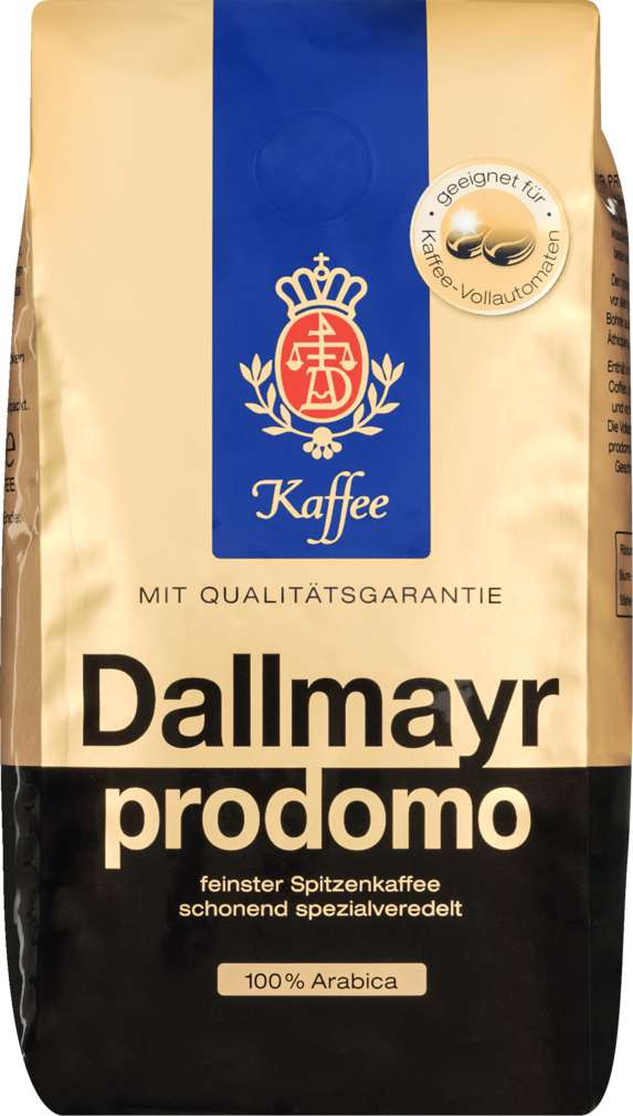 Abbildung des Sortimentsartikels Dallmayr Prodomo Ganze Bohne 500g