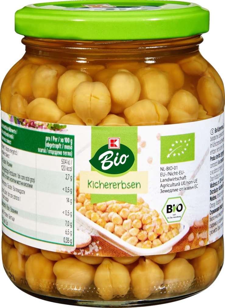 Abbildung des Sortimentsartikels K-Bio Kichererbsen 330g
