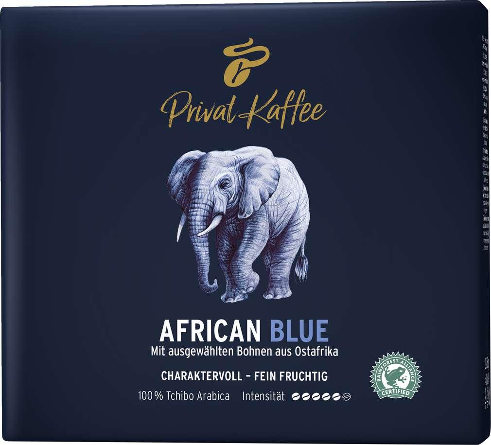 Abbildung des Sortimentsartikels Tchibo Privat Kaffee African Blue 2x250g