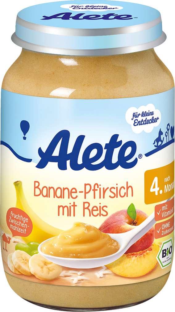Abbildung des Sortimentsartikels Alete Banane-Pfirsich mit Reis