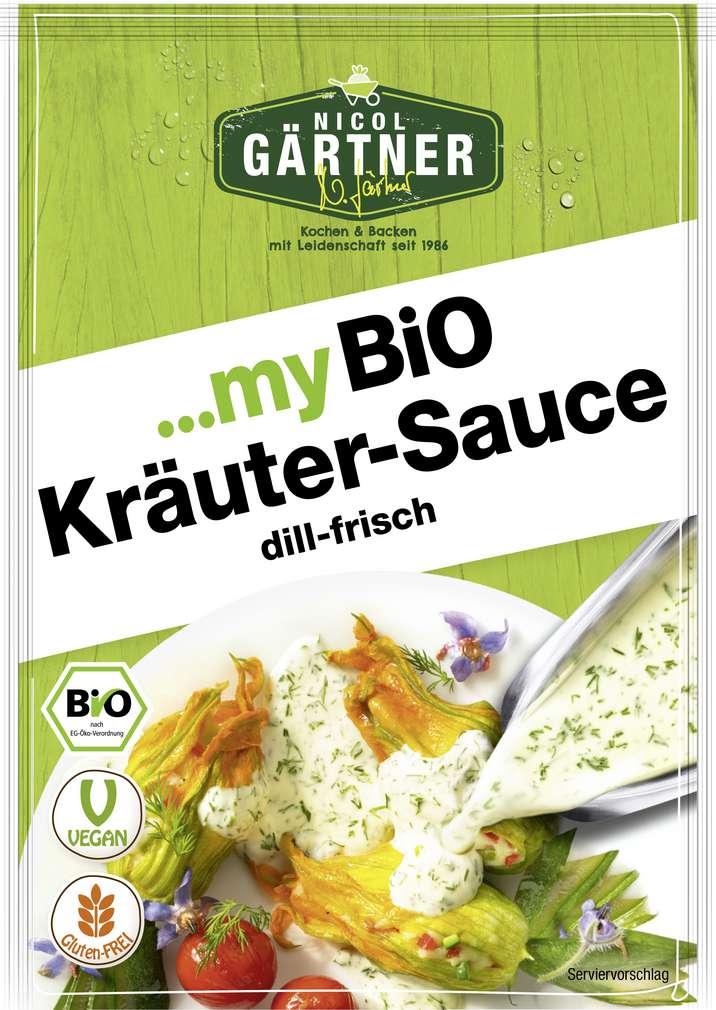 Abbildung des Sortimentsartikels Nicol Gärtner Bio-Kräuter-Sauce glutenfrei, laktosefrei 23g