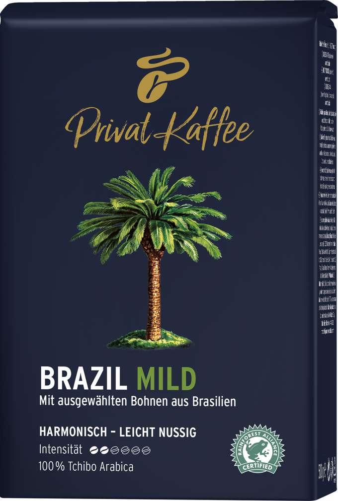 Abbildung des Sortimentsartikels Tchibo Privat Kaffee Brazil Mild ganze Bohnen 500g