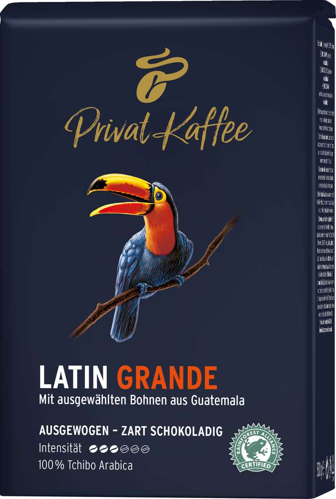 Abbildung des Sortimentsartikels Tchibo Privat Kaffee Guatemala Grande ganze Bohnen 500g