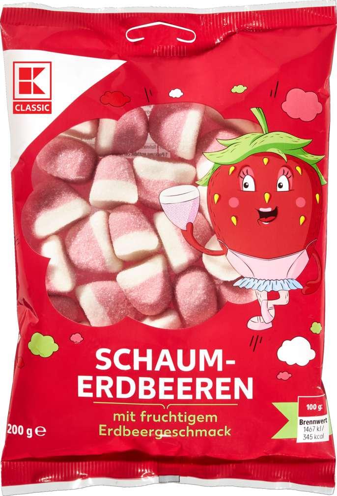 Abbildung des Sortimentsartikels K-Classic Schaumerdbeeren Fruchtgummi 200g