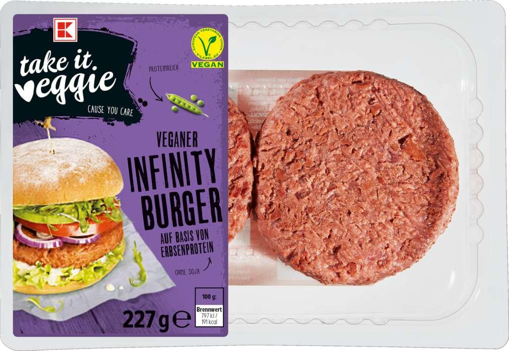 Abbildung des Sortimentsartikels K-Take it Veggie Burgerscheiben vegan 227g