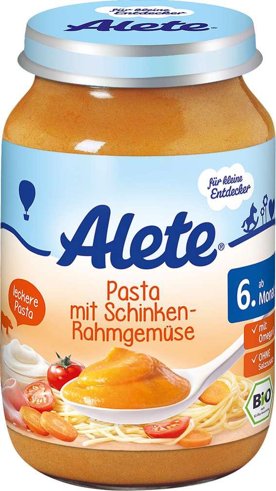 Abbildung des Sortimentsartikels Alete Pasta mit Schinken-Rahmgemüse 190g