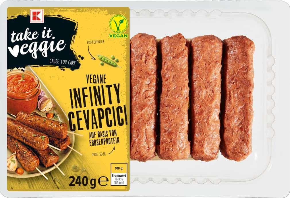 Abbildung des Sortimentsartikels K-Take it Veggie Cevapcici vegan 240g