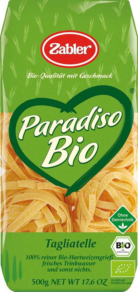 Abbildung des Sortimentsartikels Zabler Paradiso Bio Tagliatelle 500g