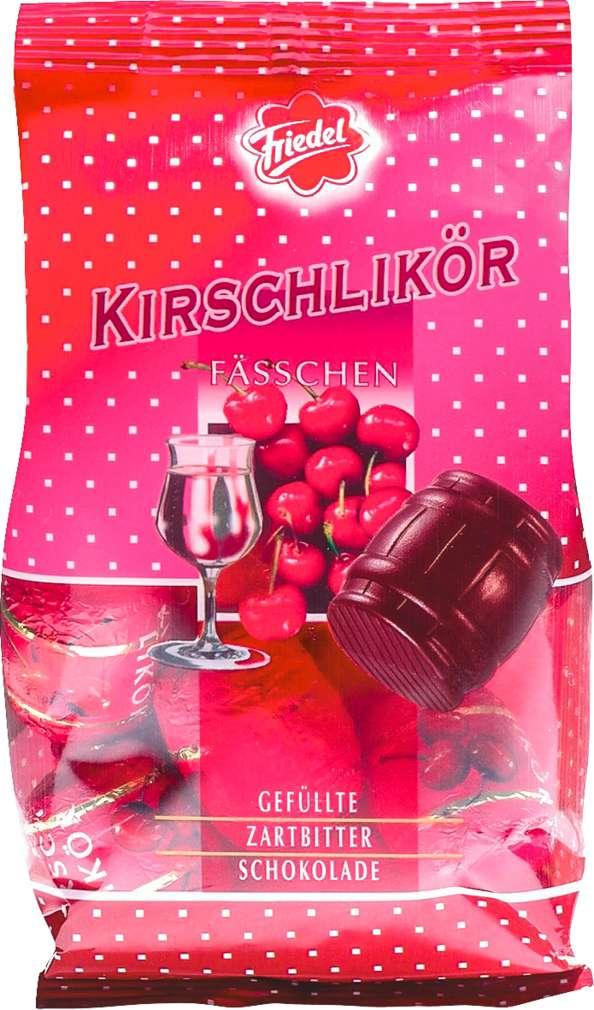 Abbildung des Sortimentsartikels R+K Friedel Kirschlikörfässchen 125g