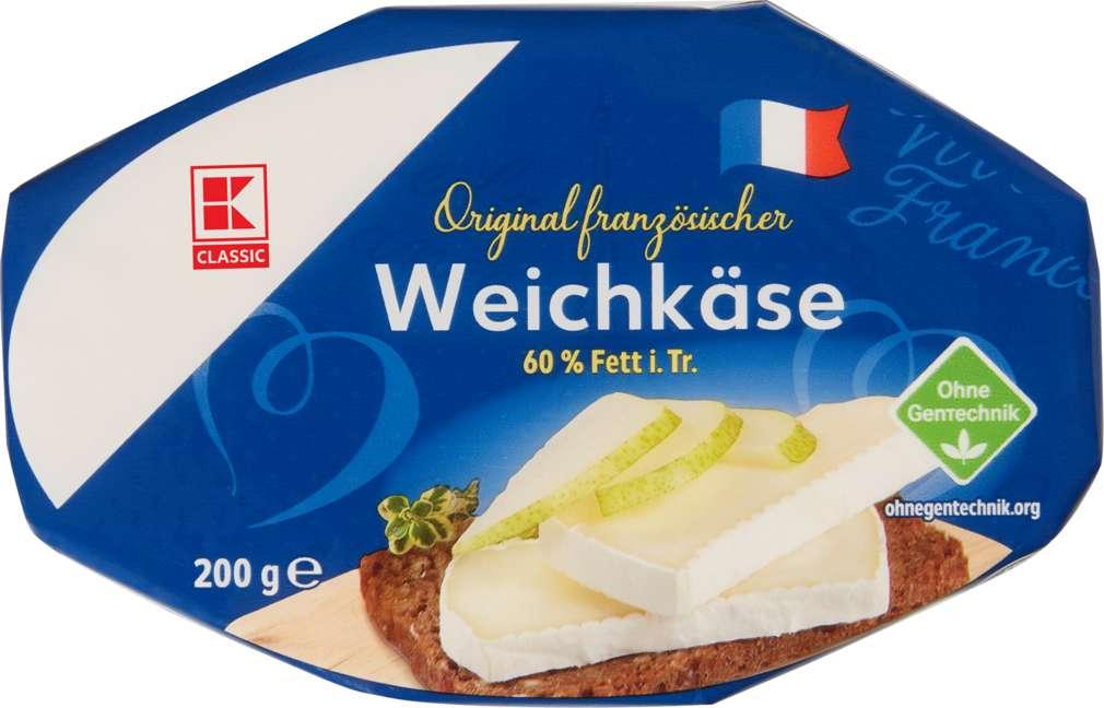 Abbildung des Sortimentsartikels K-Classic Französischer Weichkäse oval 60% Fett i.Tr. 200g