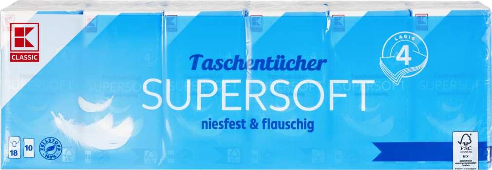 Abbildung des Sortimentsartikels K-Classic Taschentücher 4-lagig 18x10 Stück