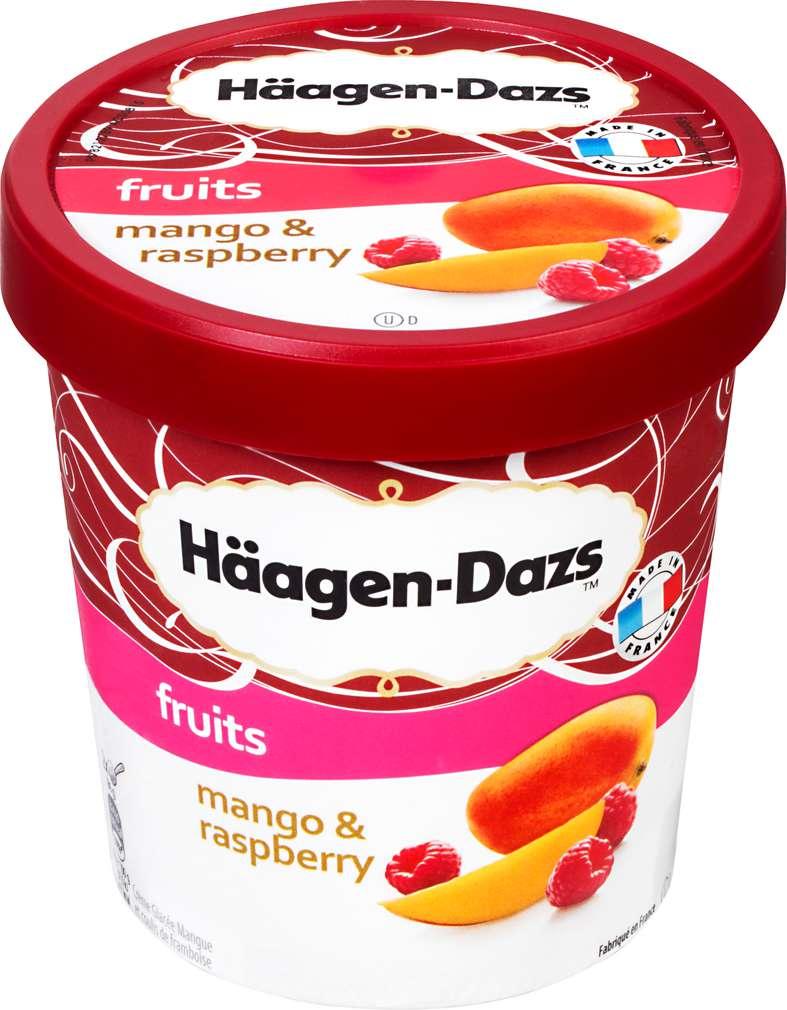 Abbildung des Sortimentsartikels Häagen-Dazs Eis Mango & Himbeer 500ml