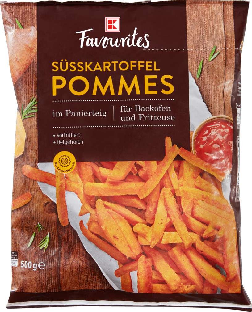 Abbildung des Sortimentsartikels K-Favourites Süßkartoffelpommes 500g