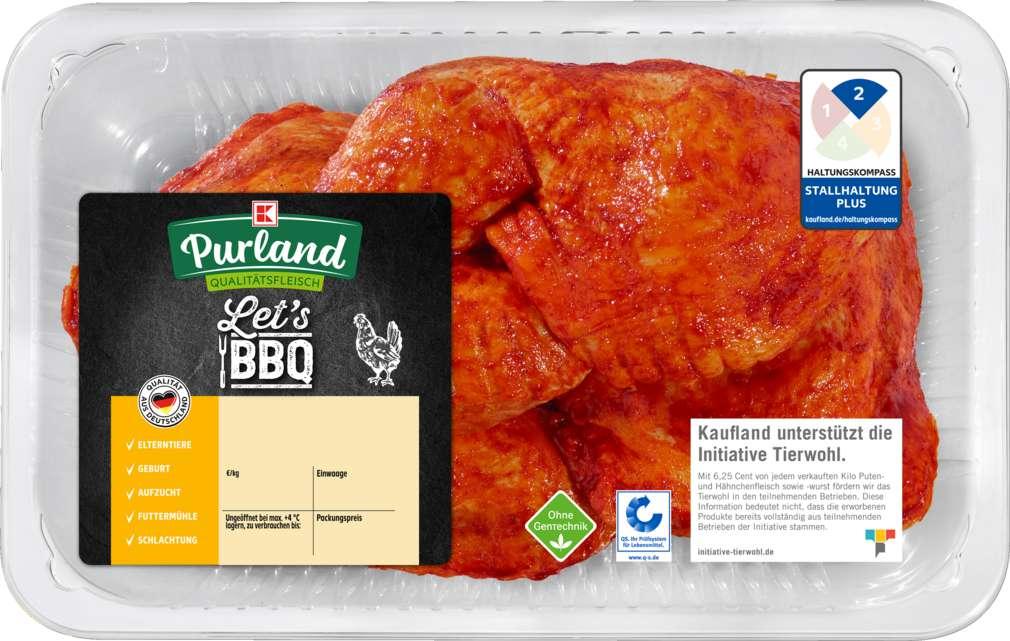 Abbildung des Sortimentsartikels K-Purland Let´s BBQ QS-Hähnchen Schenk.m. Rst gew. 1100g