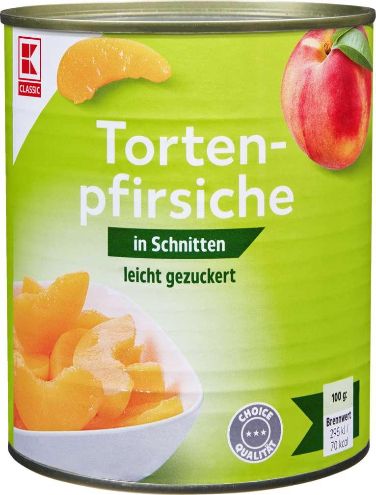 Abbildung des Sortimentsartikels K-Classic Tortenpfirsiche Choice, gezuckert 850ml