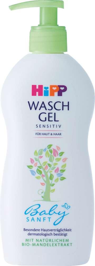 Abbildung des Sortimentsartikels Hipp Babysanft Waschgel Haut & Haar 400ml
