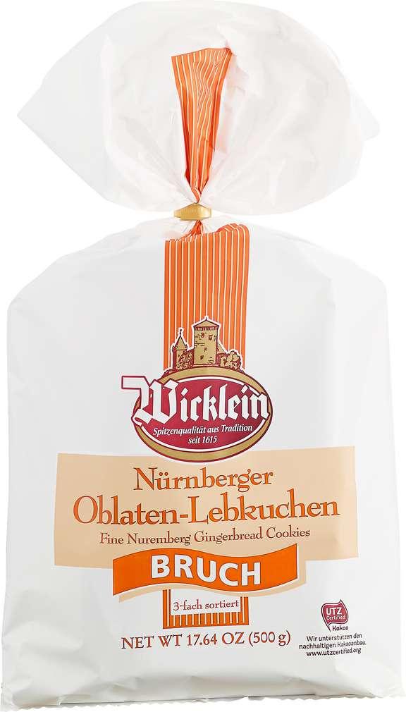 Abbildung des Sortimentsartikels Wicklein Nürnberger Lebkuchen Bruch, 3-fach 500g