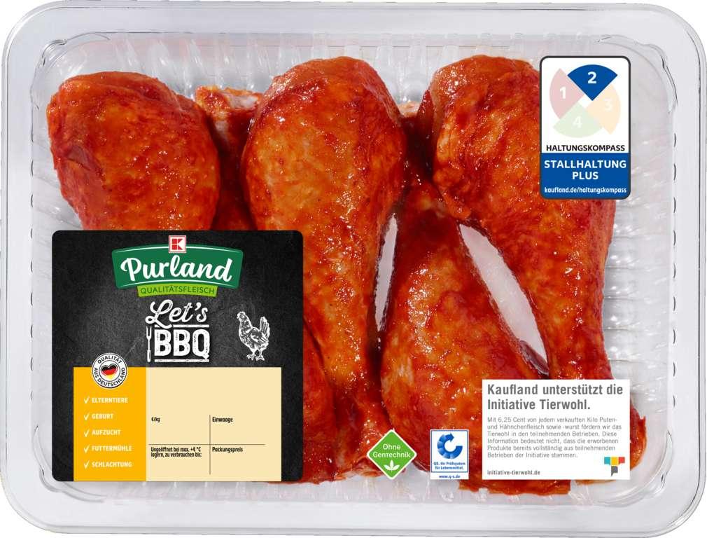 Abbildung des Sortimentsartikels K-Purland Let´s BBQ QS- Hähnchen Unterschenkel gewürzt, 600g
