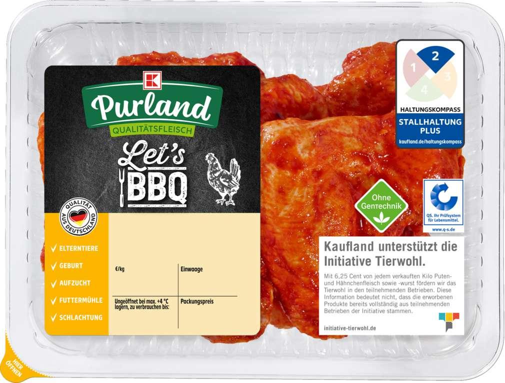 Abbildung des Sortimentsartikels K-Purland Let´s BBQ QS- Hähnchen Flügel gewürzt, 550g