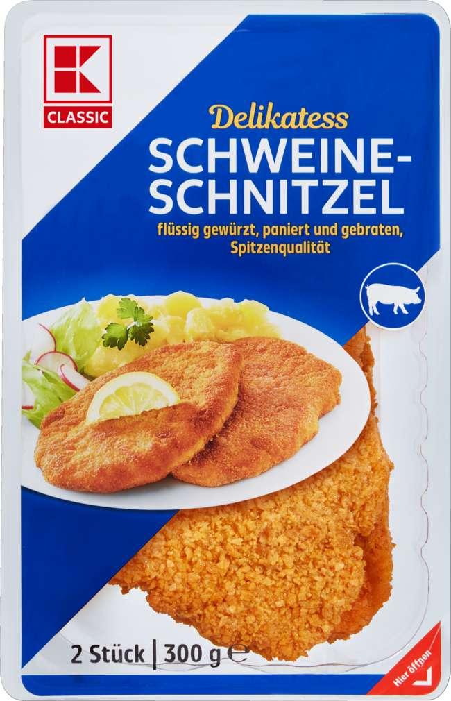 Abbildung des Sortimentsartikels K-Classic Schweineschnitzel 2x150g