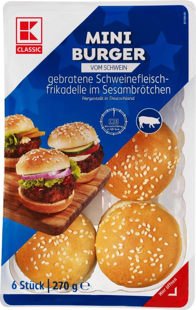 Abbildung des Sortimentsartikels K-Classic Mini Burger 270g