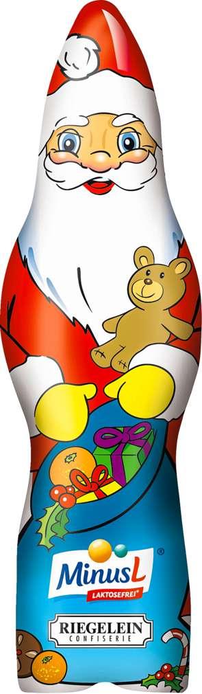 Abbildung des Sortimentsartikels MinusL Weihnachtsmann Riegelein 75g