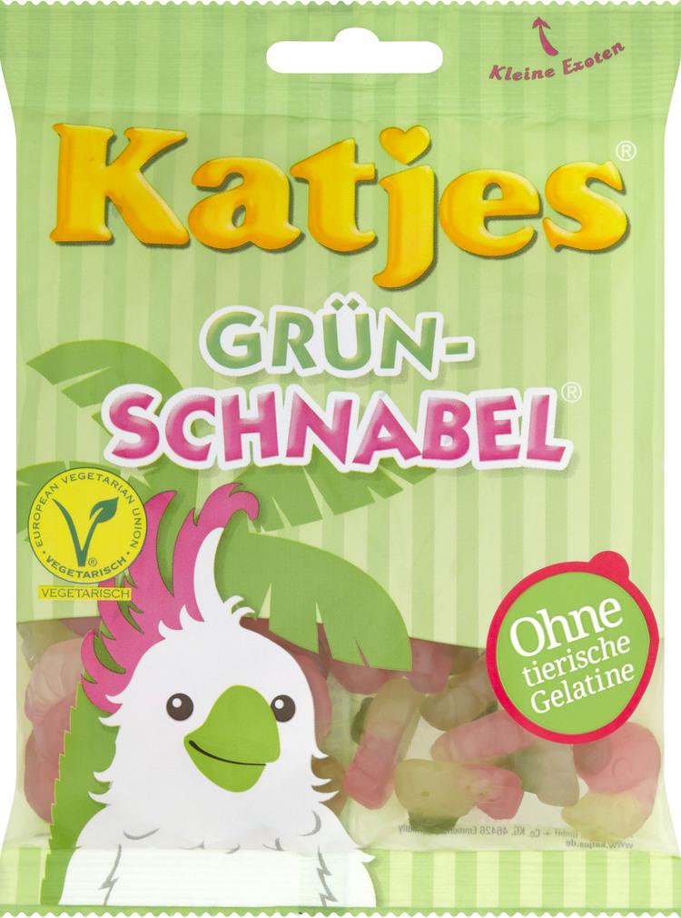 Abbildung des Sortimentsartikels Katjes Grün-Schnabel 200g