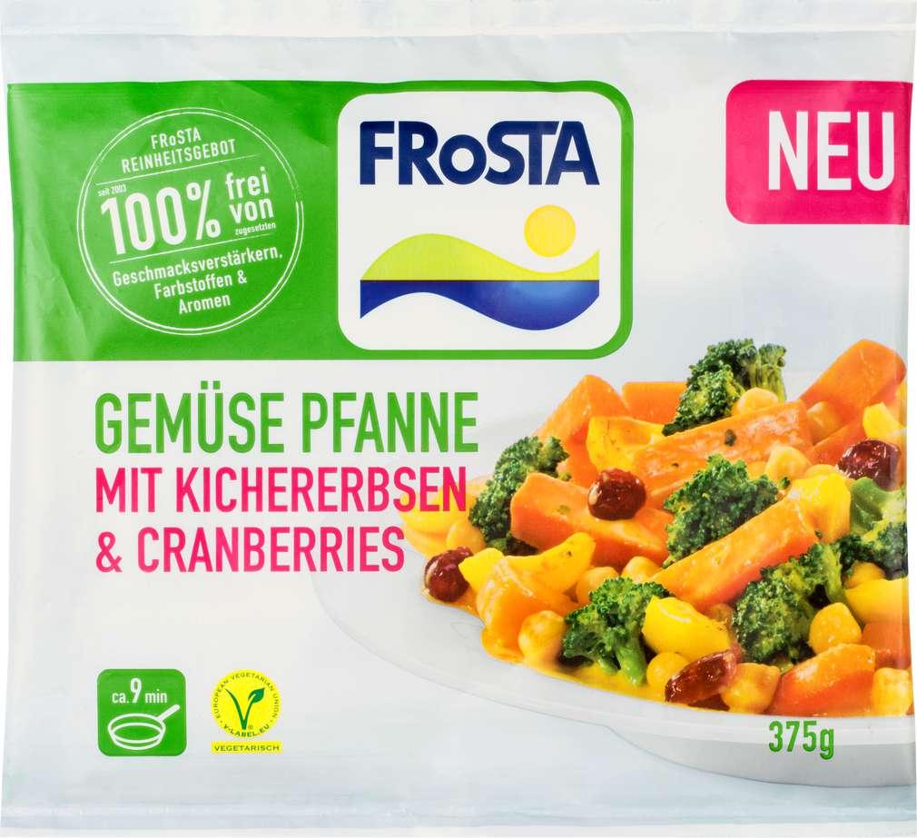 Abbildung des Sortimentsartikels Frosta Gemüsepfanne Kichererbsen & Cranberries 375g