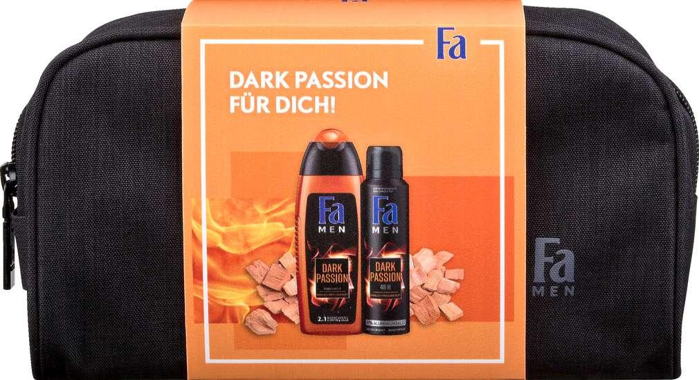 Abbildung des Sortimentsartikels Fa Geschenkset Men Dark Passion mit Kulturtasche