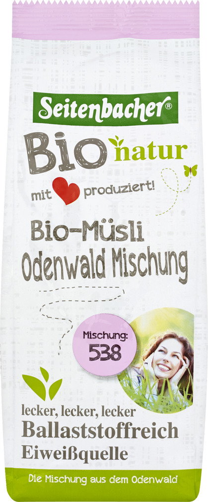 Abbildung des Sortimentsartikels Seitenbacher Müsli Odenwald-Mischung 500g
