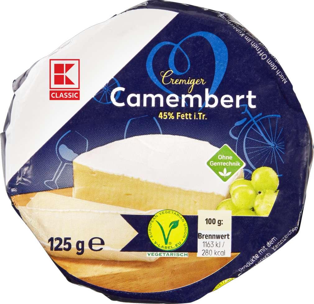 Abbildung des Sortimentsartikels K-Classic Camembert rund 45% Fett i.Tr. 125g