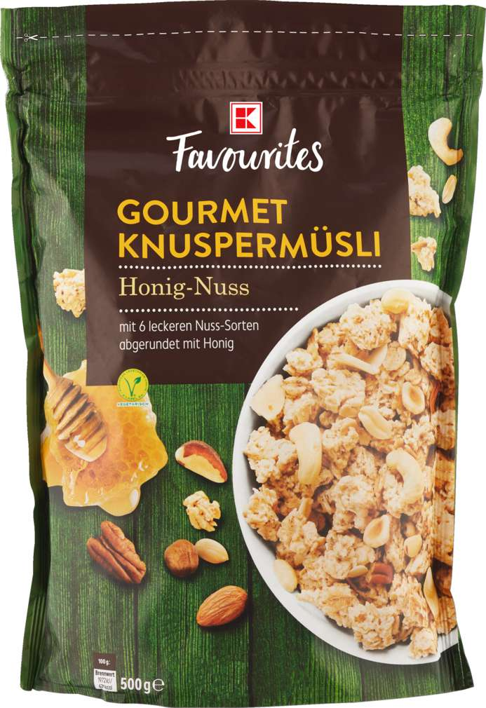 Abbildung des Sortimentsartikels K-Favourites Gourmet Müsli Honig-Nuss 500g