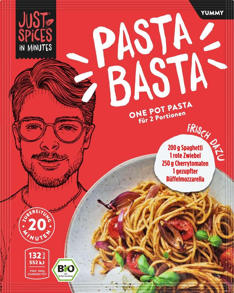 Abbildung des Sortimentsartikels Just Spices Bio-Gewürz Ofen Pot Pasta lf 23g
