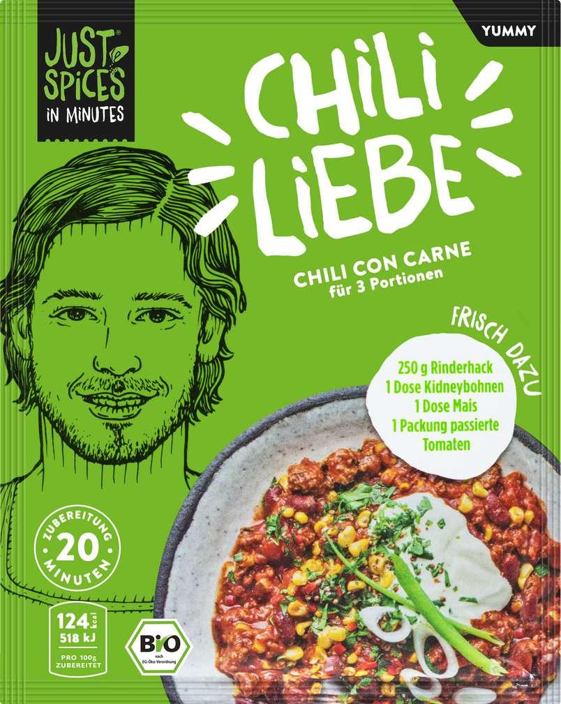 Abbildung des Sortimentsartikels Just Spices Bio-Gewürz Chili con Carne lf 47g
