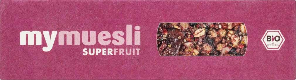 Abbildung des Sortimentsartikels MyMuesli Bio-Riegel Superfruit 35g