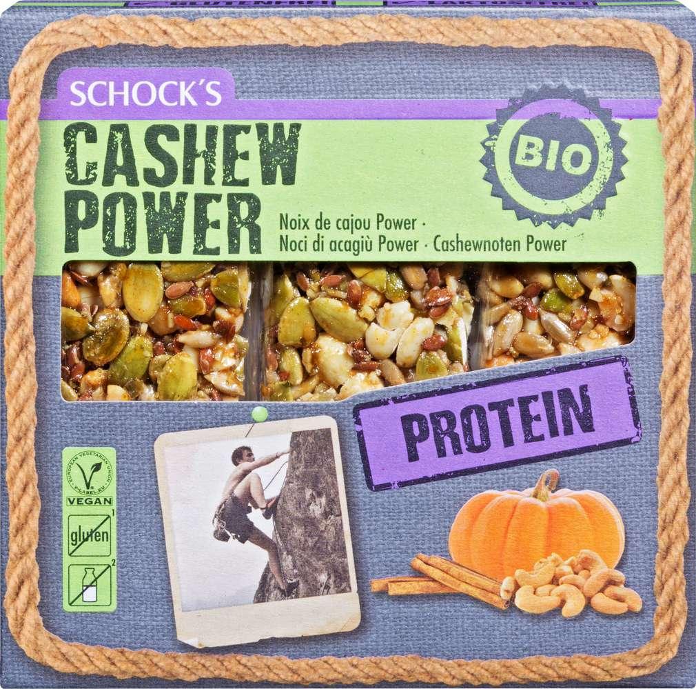 Abbildung des Sortimentsartikels Schock Bio-Proteinriegel Cashew Power 3x25g