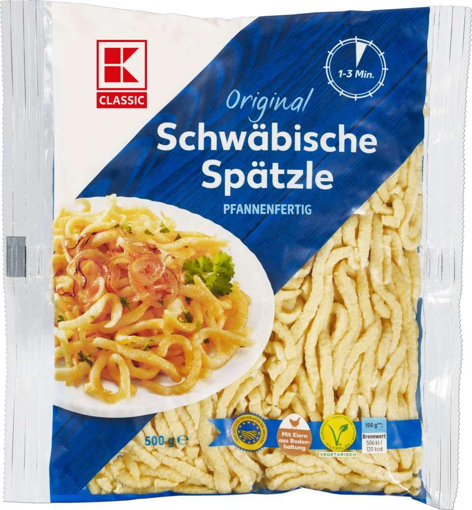 Abbildung des Sortimentsartikels K-Classic Schwäbische Spätzle g.g.A. pfannenfertig 500g