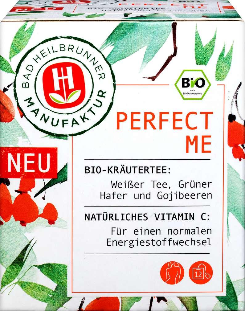 Abbildung des Sortimentsartikels Bad Heilbrunner Bio-Kräutertee Perfect Me 12x2g
