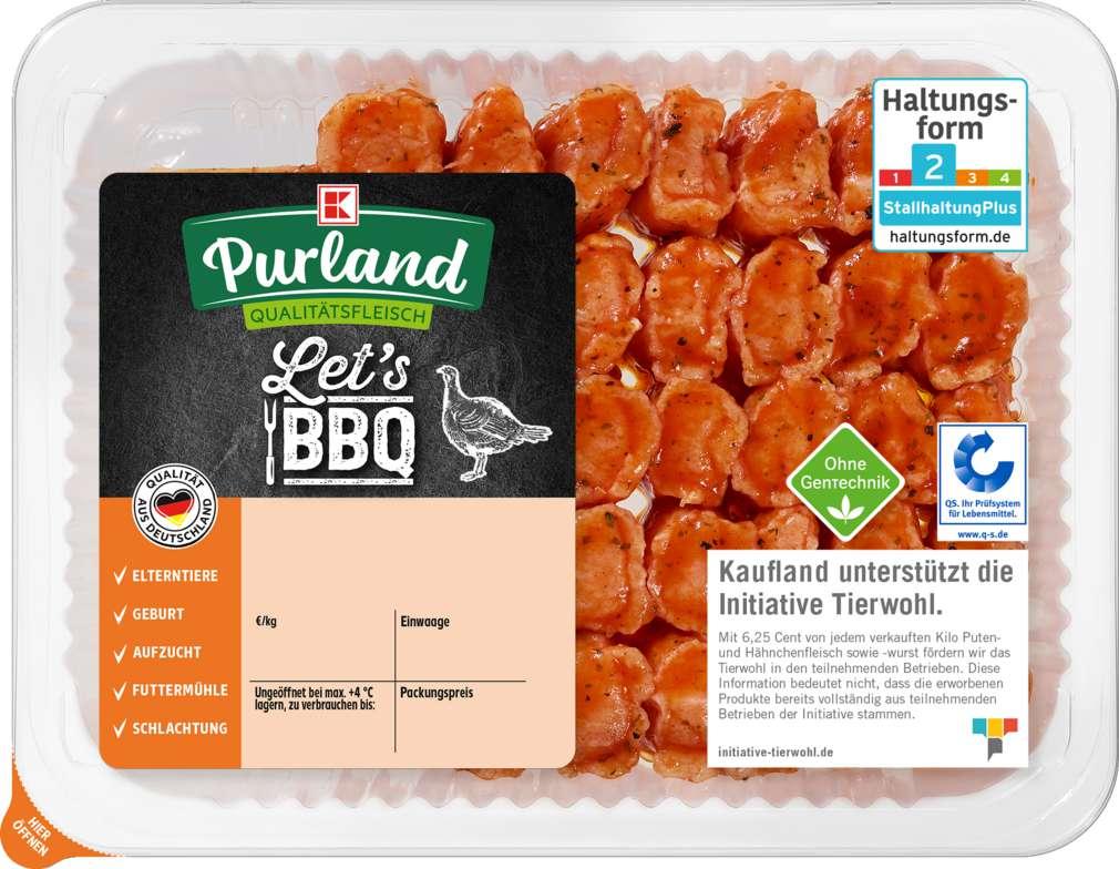 Abbildung des Sortimentsartikels K-Purland Let´s BBQ QS- Puten Grillies 300g