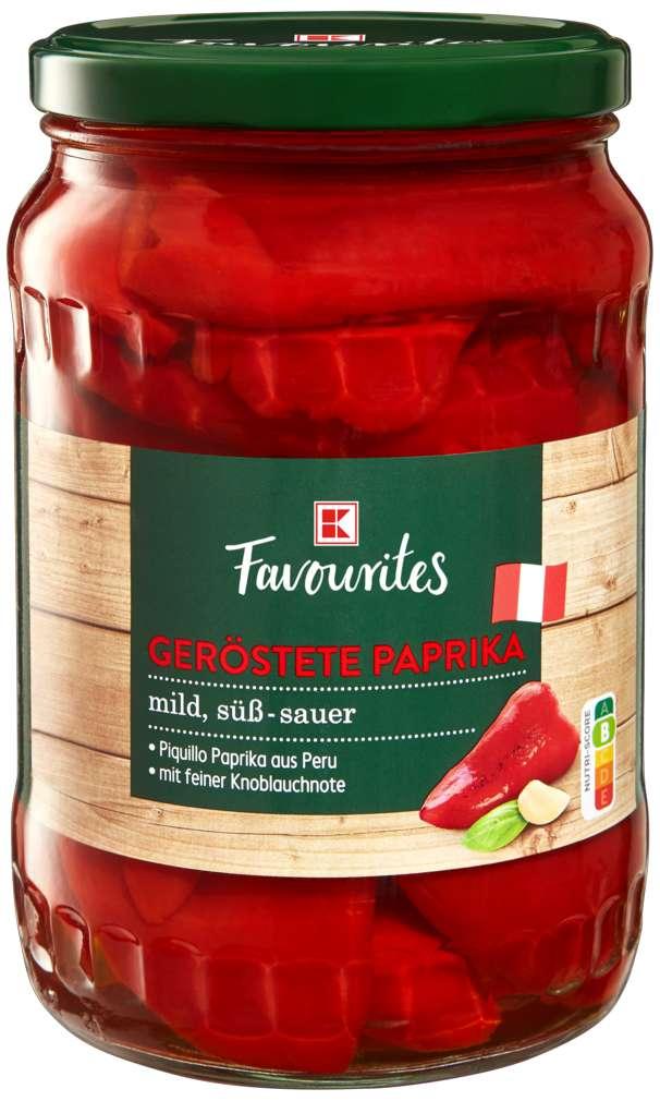 Abbildung des Sortimentsartikels K-Favourites geröstete Paprika 680g