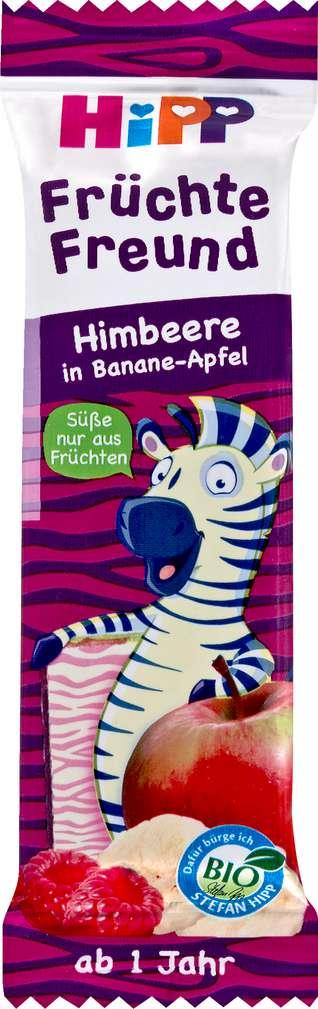 Abbildung des Sortimentsartikels Hipp Früchte Freund Himb./Banane/Apfel Zebra ab 1 Jahr 23g
