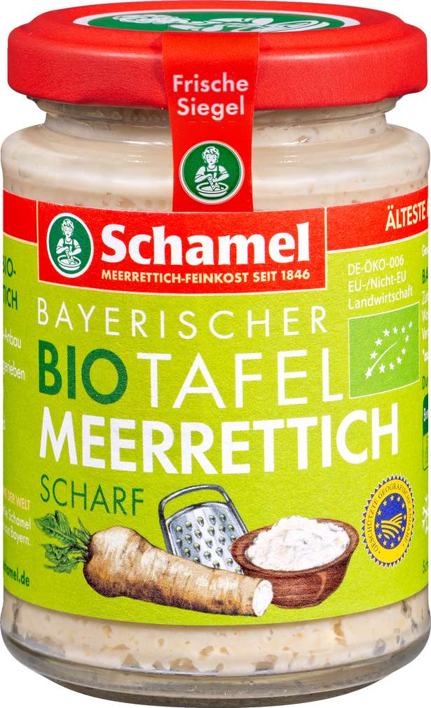Abbildung des Sortimentsartikels Schamel Bio-Meerrettich Tafel sortiert 100g