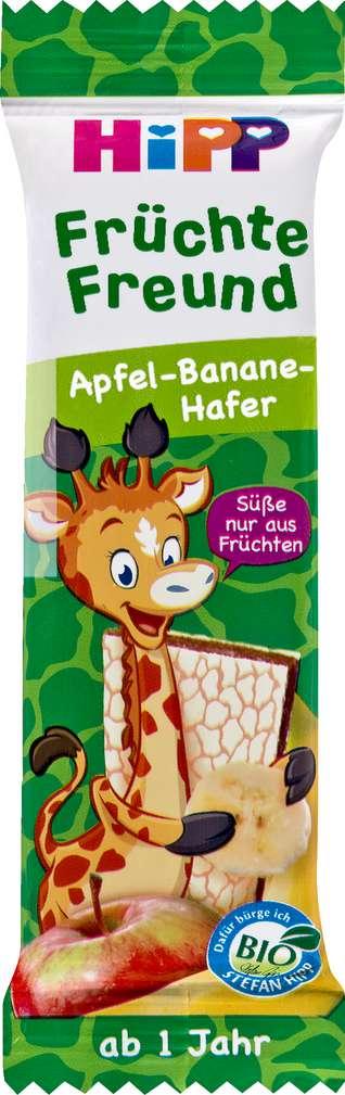 Abbildung des Sortimentsartikels Hipp Früchte Freund Apfel/Banane/Hafer Giraffe ab 1 Jahr 23g