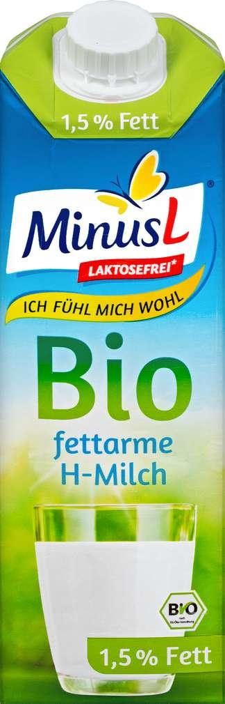 Abbildung des Sortimentsartikels MinusL Bio-H-Milch laktosefrei 1,5% Fett 1,0l