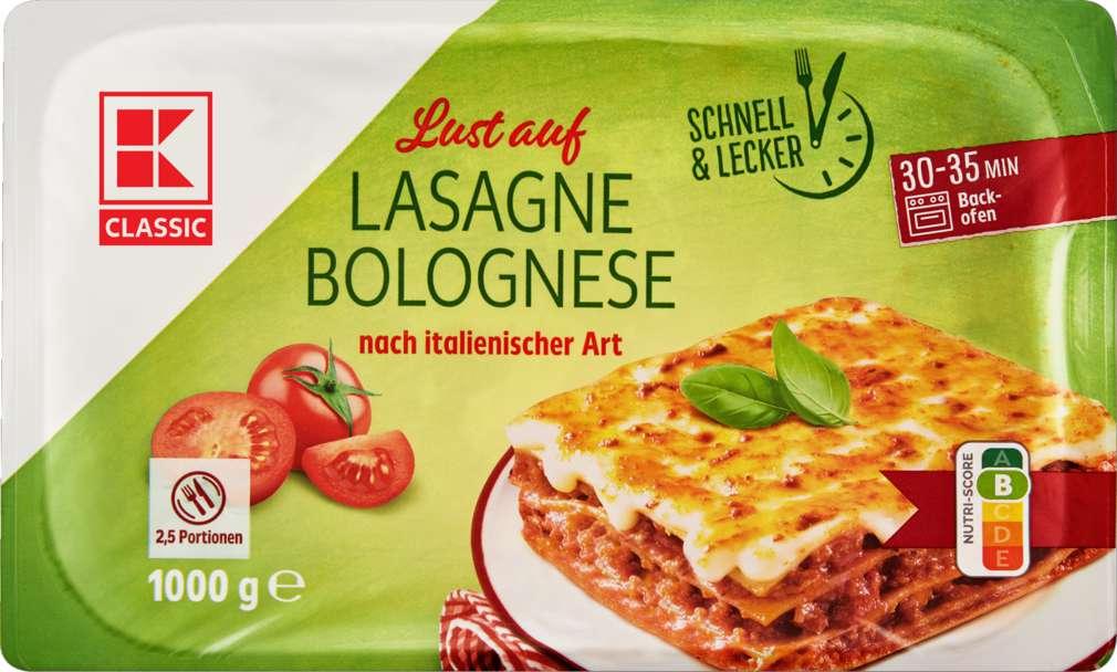 Abbildung des Sortimentsartikels K-Classic Lasagne Bolognese 1000g