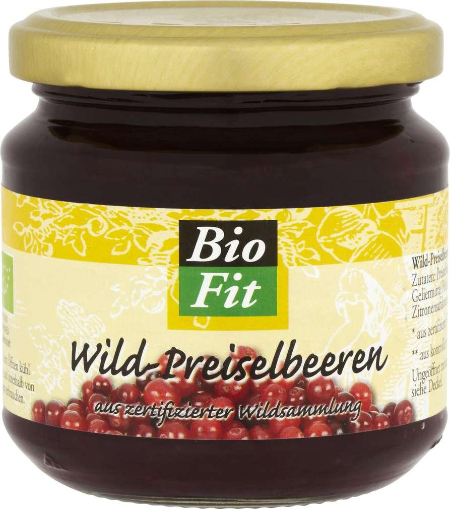 Abbildung des Sortimentsartikels Bio Fit Wild-Preiselbeeren 220g