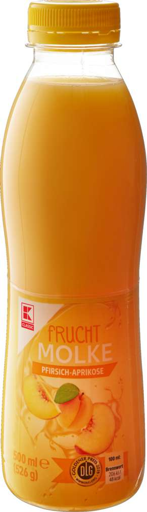 Abbildung des Sortimentsartikels K-Classic Fruchtmolke Pfirsich-Aprikose 0,1 Fett 500ml