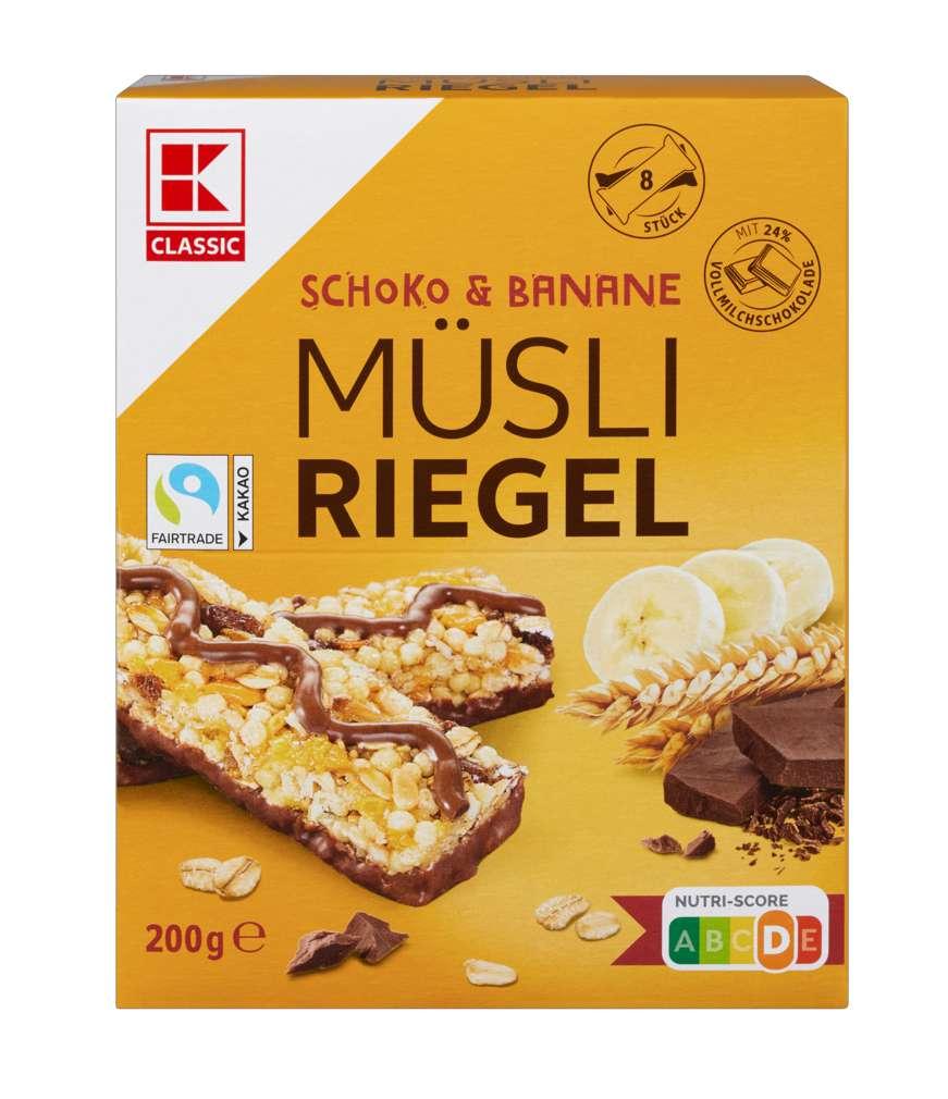 Abbildung des Sortimentsartikels K-Classic Müsliriegel Schoko-Banane 8x25g